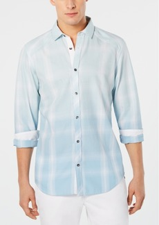 INC I.n.c. Men's Washed Plaid Shirt, Created for Macy's