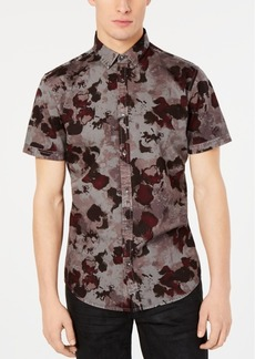 INC I.n.c. Men's Watercolor Camo Shirt, Created for Macy's