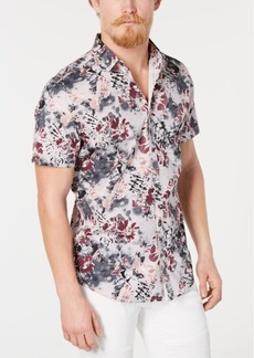 INC I.n.c. Men's Watercolor Floral Shirt, Created for Macy's