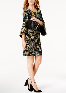 Anna Sui Loves Inc International Concepts Petite Floral-Print Sheath Dress, Created for Macy's