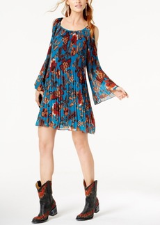 Anna Sui Loves Inc International Concepts Cold-Shoulder Trapeze Dress, Created for Macy's
