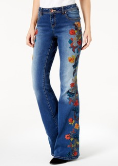 Anna Sui Loves Inc International Concepts Curvy-Fit Embroidered Bootcut Jeans, Created for Macy's
