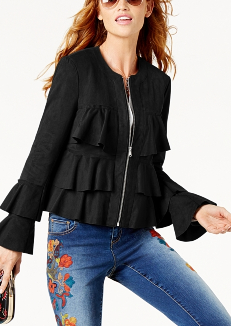 INC International Concepts I.n.c. Petite Tiered Ruffled Jacket, Created for Macy's