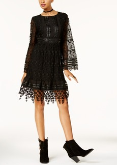 Anna Sui x Inc International Concepts Lace A-Line Dress, Created for Macy's