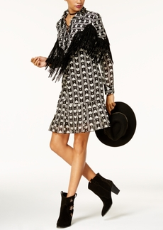 Anna Sui x Inc International Concepts Printed Fringe-Trim Dress, Created for Macy's