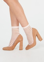 INC International Concepts I.n.c. 2-Pk. Sheer Stripe Ankle Fashion Socks, Created for Macy's