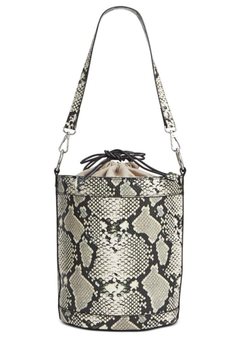 INC International Concepts Inc Ajae Snake Bucket Bag, Created For Macy's