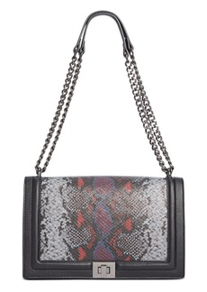 INC International Concepts Inc Ajae Snake Print Flap Crossbody, Created For Macy's