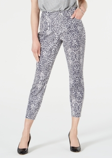 INC International Concepts Inc Animal-Print Curvy-Fit Skinny Jeans, Created for Macy's