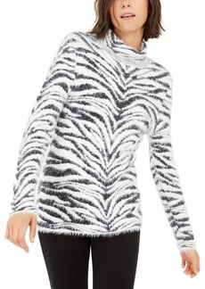 INC International Concepts Inc Animal-Print Eyelash Sweater, Created For Macy's
