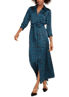 INC International Concepts Inc Animal-Print Maxi Shirtdress, Created For Macy's