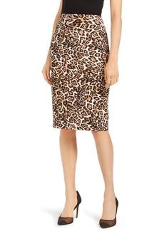 INC International Concepts Inc Animal-Print Scuba Skirt, Created for Macy's