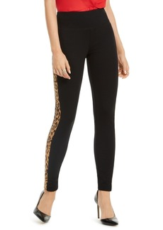 INC International Concepts Inc Curvy-Fit Animal-Print Stripe Skinny Pants, Created For Macy's