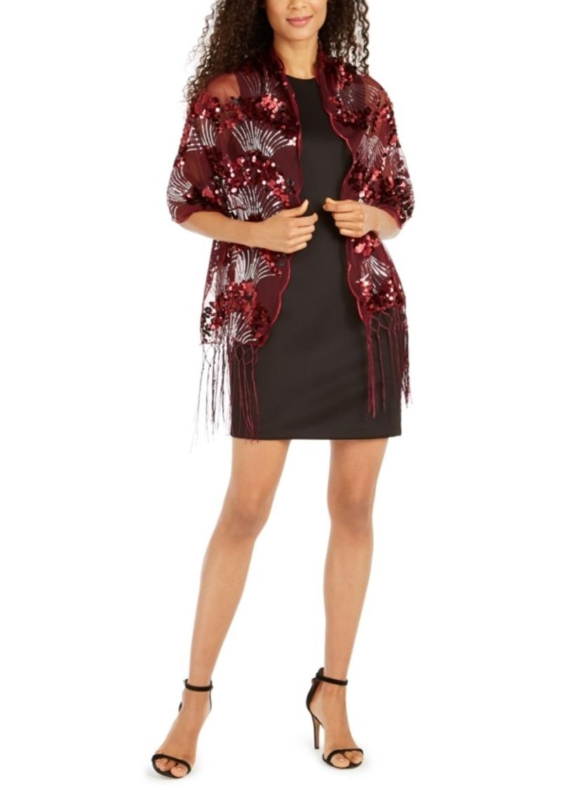 INC International Concepts Inc Art Deco Sequin Wrap, Created For Macy's