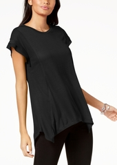 INC International Concepts I.n.c. Asymmetrical Contrast-Detail Top, Created for Macy's