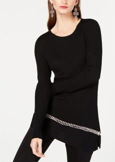 INC International Concepts Inc Asymmetrical Embellished Tunic, Created for Macy's