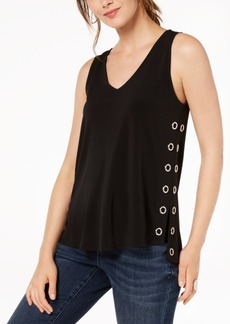 INC International Concepts Inc Asymmetrical Grommet-Hardware Top, Created for Macy's