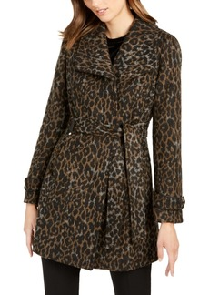INC International Concepts I.n.c. Asymmetrical Leopard Print Belted Coat, Created for Macy's