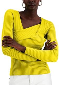 INC International Concepts Inc Asymmetrical Rib Sweater, Created for Macy's