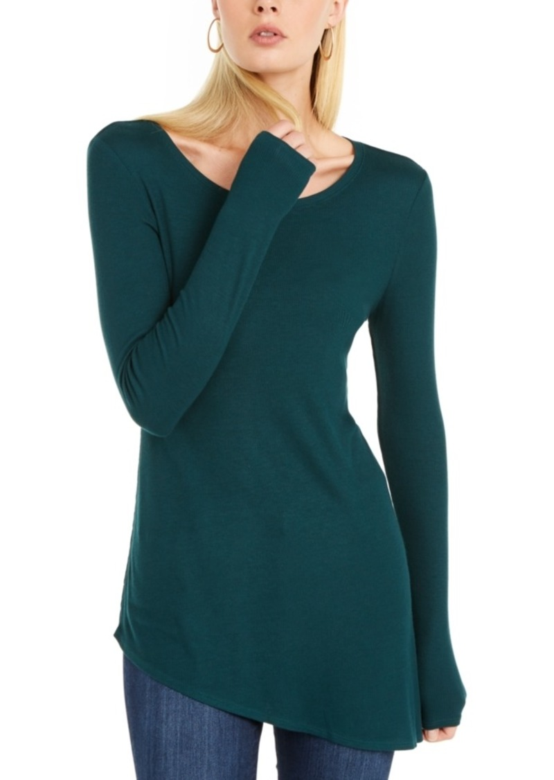 INC International Concepts Inc Asymmetrical Ribbed Tunic, Created For Macy's