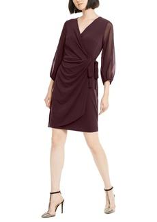 INC International Concepts Inc Balloon-Sleeve Wrap Dress, Created for Macy's