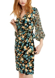 INC International Concepts Inc Balloon-Sleeve Wrap Dress, Created For Macy's