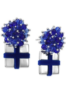 INC International Concepts Inc Beaded Bow Present Drop Earrings, Created for Macy's