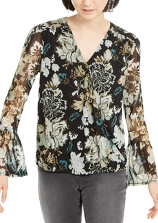INC International Concepts Inc Bell-Sleeve Surplice Top, Created for Macy's