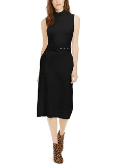 INC International Concepts Inc Belted Midi Sweater Dress, Created For Macy's