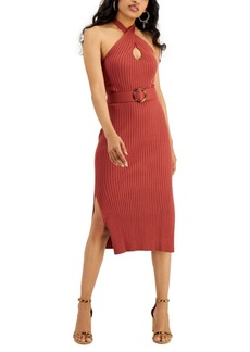 INC International Concepts Inc Belted Twist Halter Dress, Created for Macy's