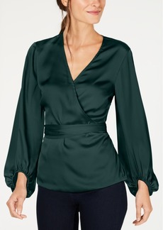INC International Concepts I.n.c. Belted Wrap Top, Created for Macy's