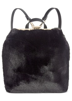 INC International Concepts Inc Binxxe Faux-Fur Frame Convertible Backpack, Created For Macy's