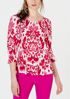 INC International Concepts I.n.c. Blouson-Sleeve Peasant Top, Created for Macy's