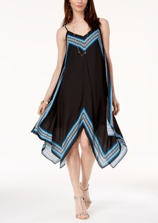 INC International Concepts I.n.c. Border-Trim Handkerchief-Hem Dress, Created for Macy's