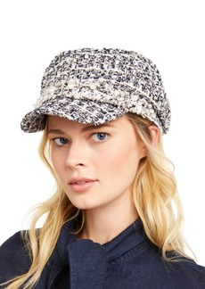 INC International Concepts Inc Boucle Embellished Cabbie Hat, Created for Macy's