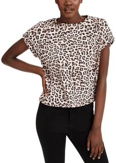 INC International Concepts Inc Boxy-Fit Printed Crewneck T-Shirt, Created for Macy's