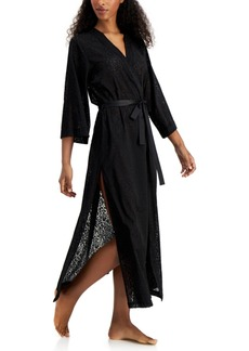INC International Concepts Inc Burnout Robe With Side Slits, Created for Macy's