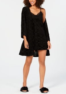 INC International Concepts I.n.c. Burnout Velvet Wrap Robe, Created for Macy's