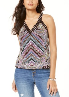 INC International Concepts Inc Button V-Neck Tank Top, Created for Macy's