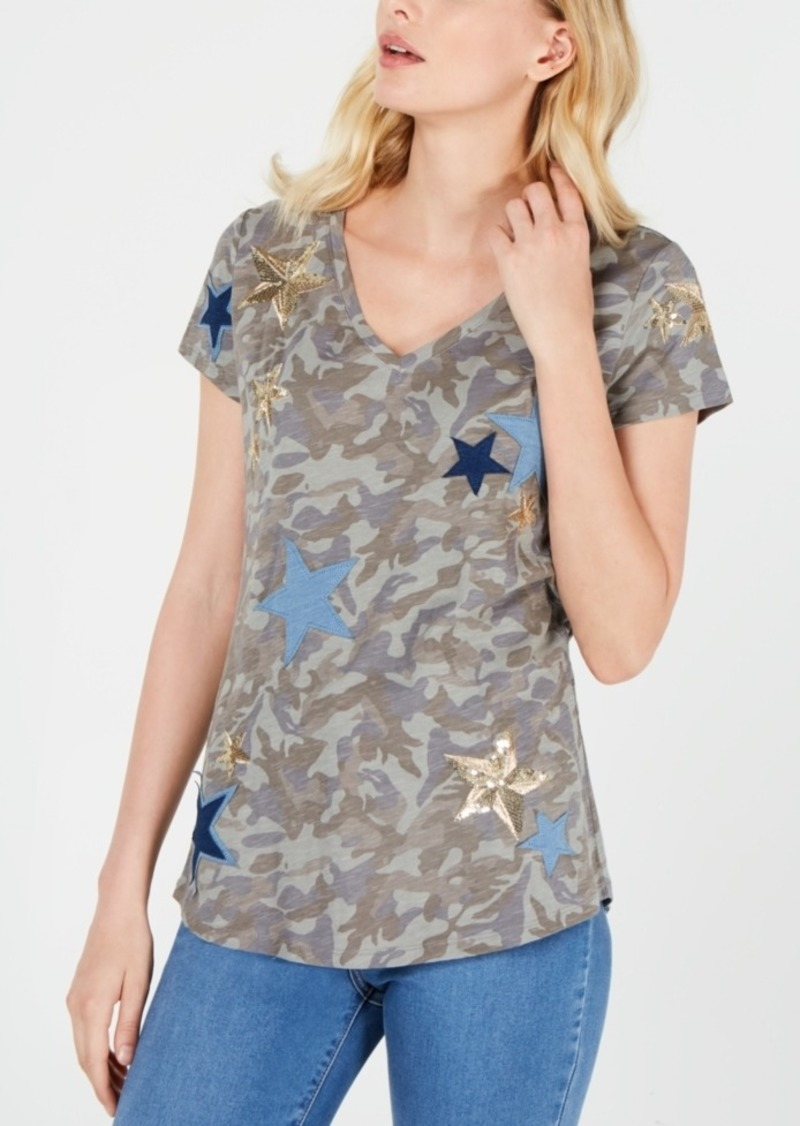 INC International Concepts Inc Camo & Stars T-Shirt, Created for Macy's