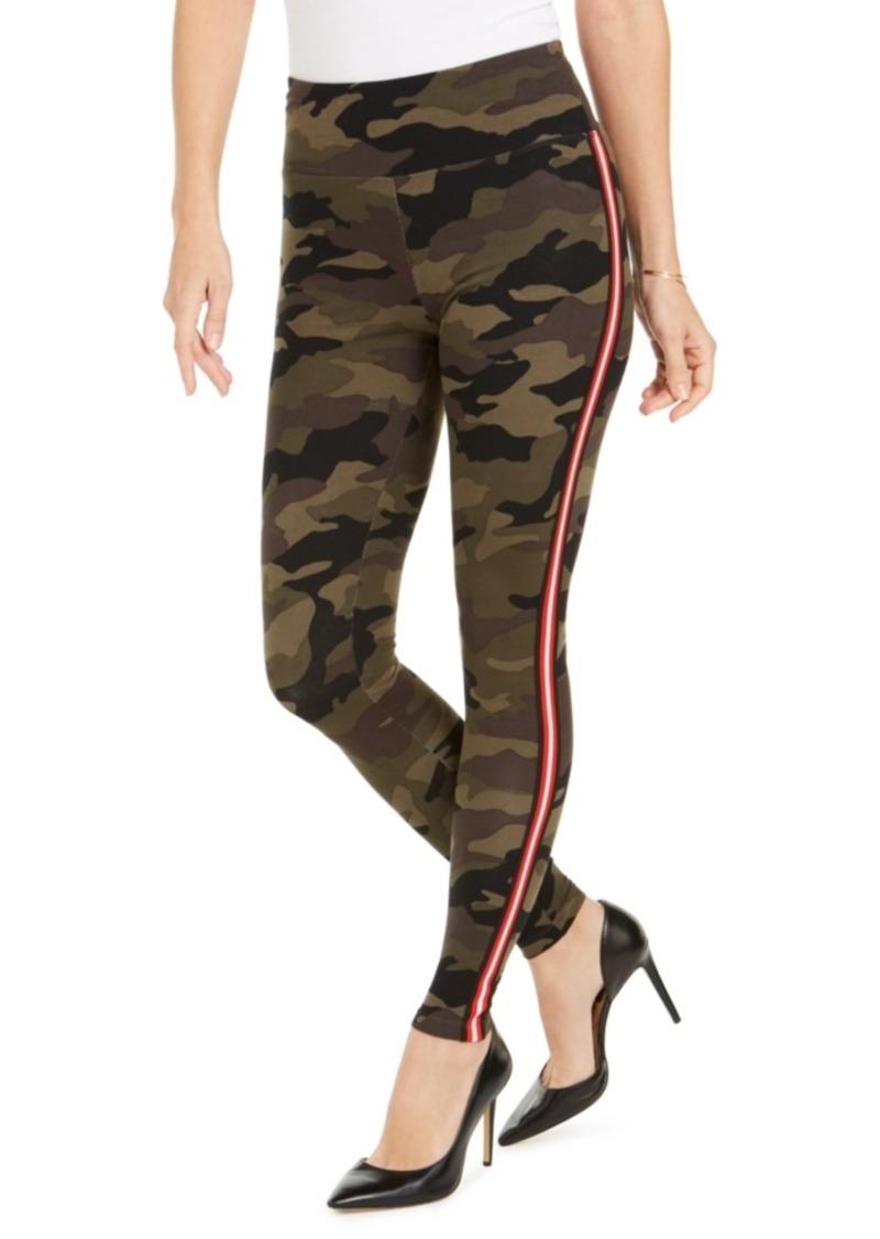 INC International Concepts Inc Camo-Print Tuxedo Stripe Leggings, Created For Macy's