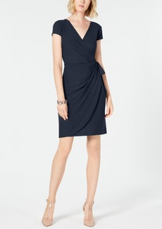 INC International Concepts I.n.c. Cap-Sleeve Faux-Wrap Dress, Created for Macy's