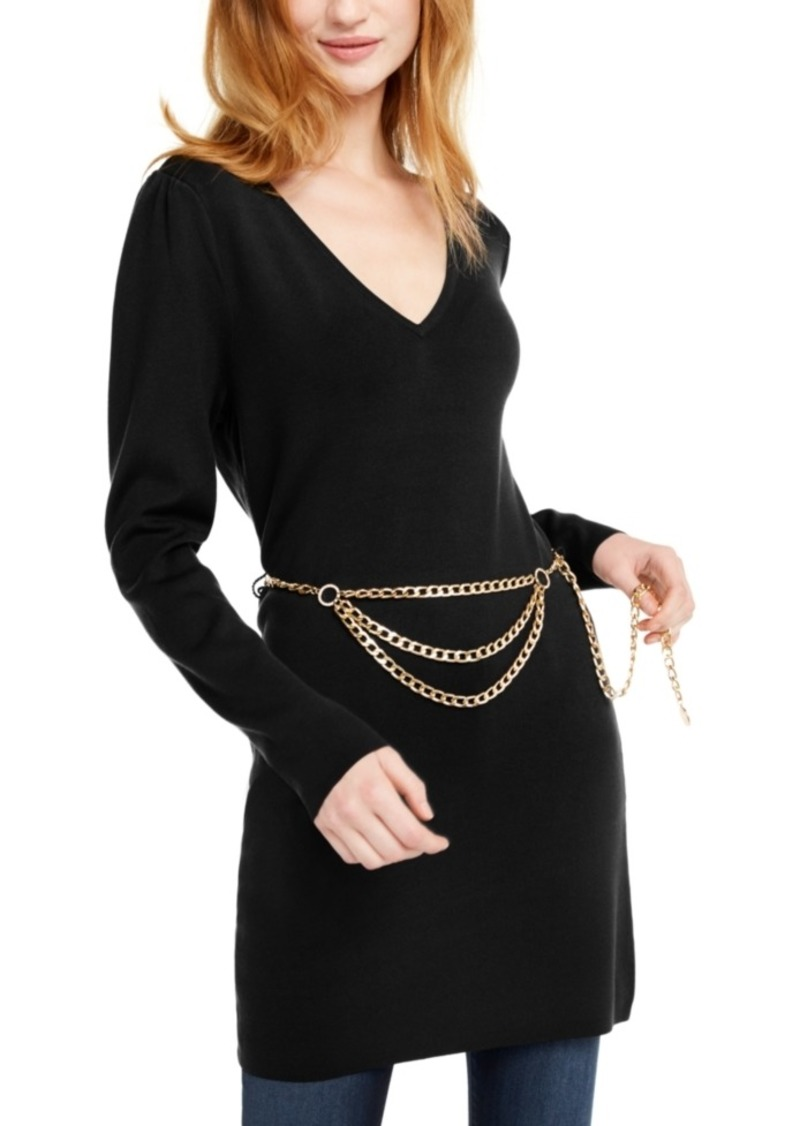 INC International Concepts Inc Chain-Belt Sweater Tunic, Created For Macy's