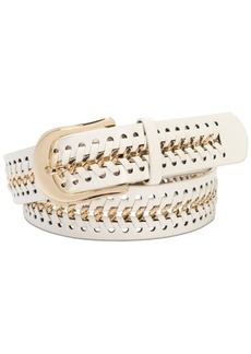 INC International Concepts Inc Chain Link Faux Leather Belt, Created for Macy's