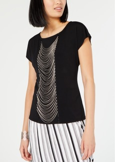 INC International Concepts I.n.c. Chain-Link Party Top, Created for Macy's