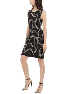 INC International Concepts Inc Chain-Print Sweater Dress, Created For Macy's