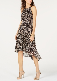 INC International Concepts I.n.c. Petite Cheetah Print High-Low Dress, Created for Macy's