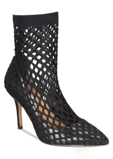 INC International Concepts I.n.c. Cherise Fishnet Sock Booties, Created For Macy'ss Women's Shoes