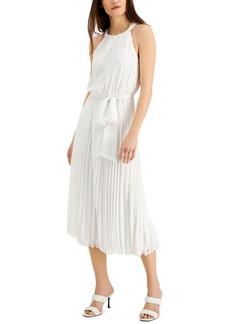 INC International Concepts Inc Chiffon Pleated Midi Dress, Created for Macy's