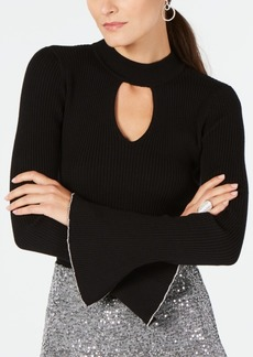 INC International Concepts Inc Choker-Neck Bell-Sleeve Top, Created for Macy's